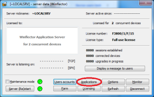 winflector preferences applications